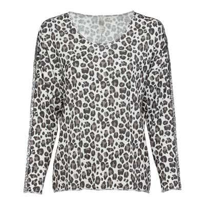 Damen-Sweatshirt mit Leoparden-Muster