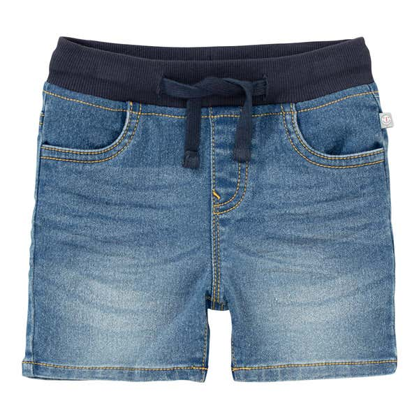 Baby-Jungen-Jeansshorts in Used-Optik