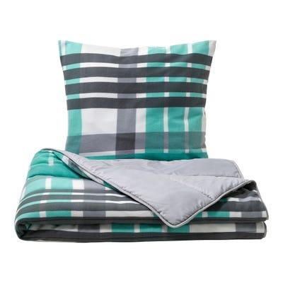 Sommer/Winter-Wende-Bettenset mit modernen Streifen