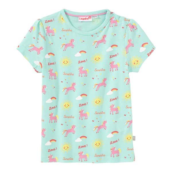 Baby-Mädchen-T-Shirt mit Regenbogen-Muster