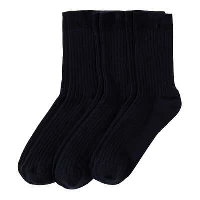 Komfort-Socken mit Ripp-Struktur, 3er Pack