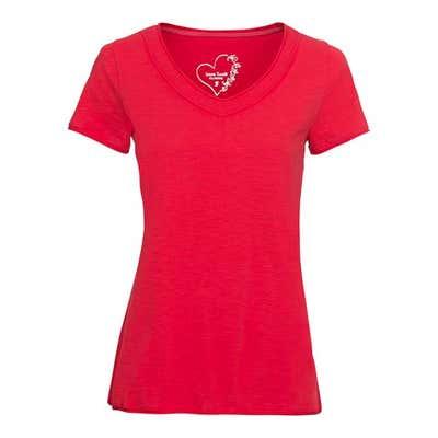 Damen-T-Shirt mit glitzerndem Zierband