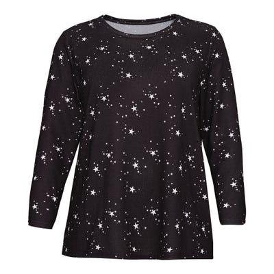 Damen-Sweatshirt mit Sternchen-Muster, große Größen