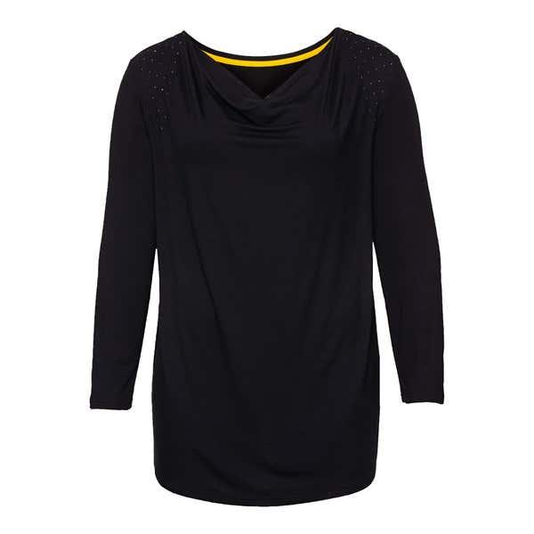 Damen-Shirt mit Wasserfall-Ausschnitt, große Größen