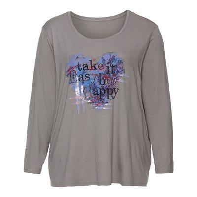 Damen-Shirt mit tollem Frontaufdruck, große Größen