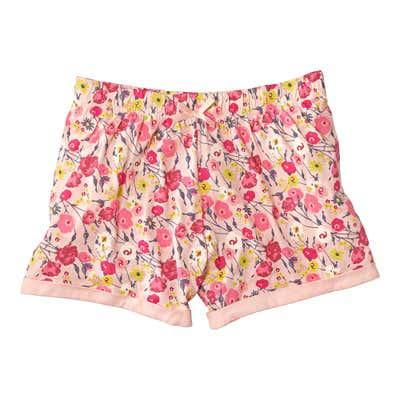 Damen-Shorts mit hübschem Blumenmuster