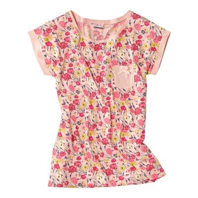 Damen-T-Shirt mit hübschem Blumenmuster