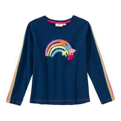 Mädchen-Shirt mit hübschem Regenbogen-Motiv