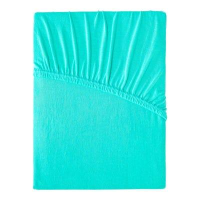 Jersey-Spannbetttuch aus Baumwoll-Mischgewebe, ca. 140-160x200cm