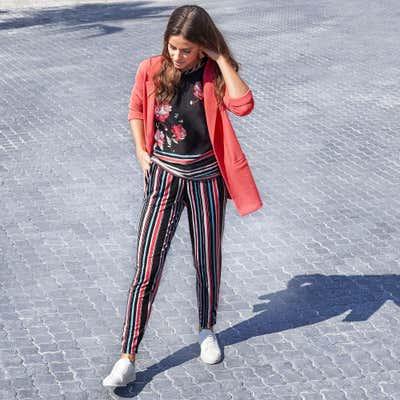 Damen-Hose mit tollen Retrostreifen