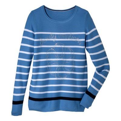 Damen-Pullover mit Glitzsteinchen