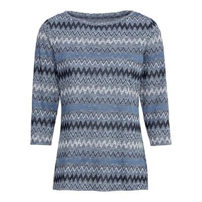 Damen-Sweatshirt mit Zickzack-Muster