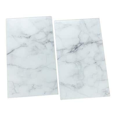 Herdabdeckplatte aus edlem Glas, ca. 52x60cm, 2er Pack