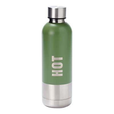 Isolierflasche aus doppelwandigem Edelstahl, ca. 7x24cm, ca. 500ml