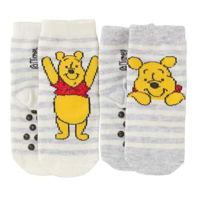 Winnie Pooh Baby-ABS-Socken, 2er Pack