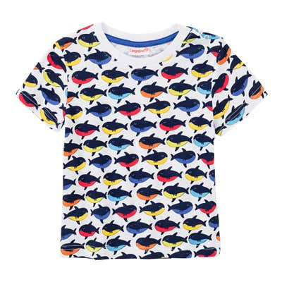 Baby-Jungen-T-Shirt mit Wal-Muster