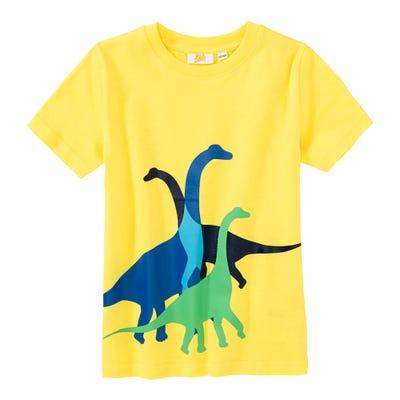 Jungen-T-Shirt mit Dinoaurier-Frontaufdruck