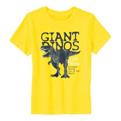 Jungen-T-Shirt mit Dino-Frontaufdruck