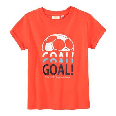 Jungen-T-Shirt mit Fußball-Frontaufdruck