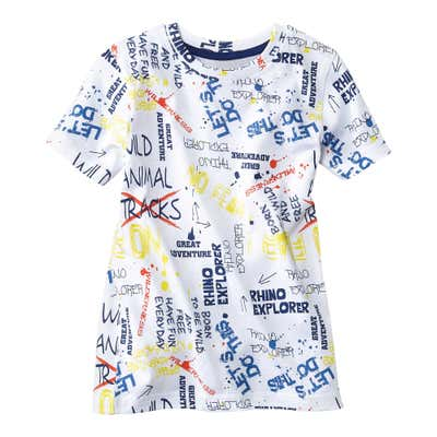 Kinder-Jungen-T-Shirt in coolem Graffiti-Design