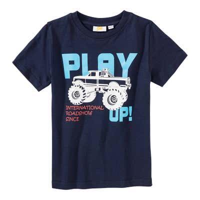 Jungen-T-Shirt mit Monstertruck-Frontaufdruck