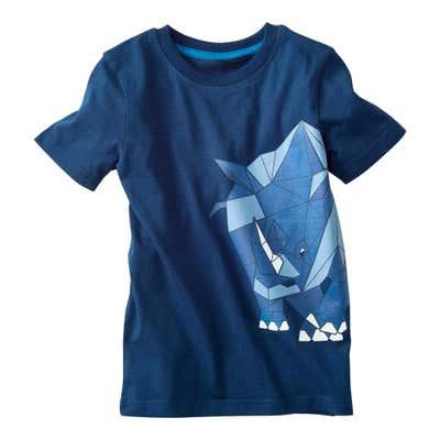 Kinder-Jungen-T-Shirt mit geometrischem Tiermotiv