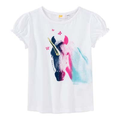 Mädchen-T-Shirt mit Einhorn-Motiv