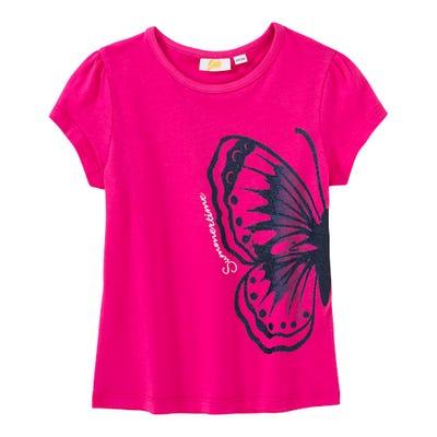 Mädchen-T-Shirt mit Glitzer-Schmetterling