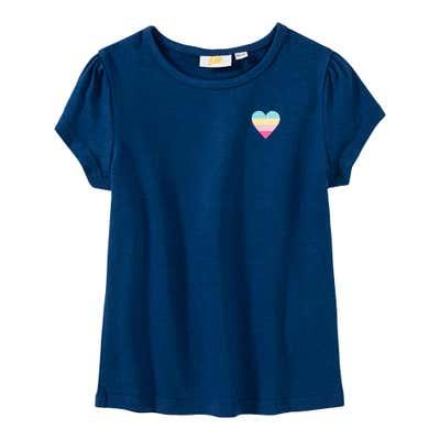 Mädchen-T-Shirt mit Herz-Aufdruck