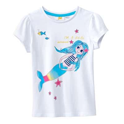Kinder-Mädchen-T-Shirt bezauberndem Glitzeraufdruck