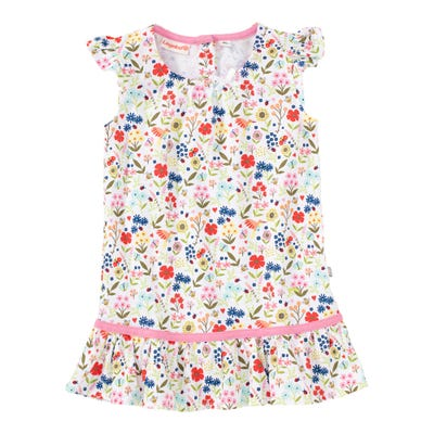 Baby-Mädchen-Kleid mit Frühlings-Muster