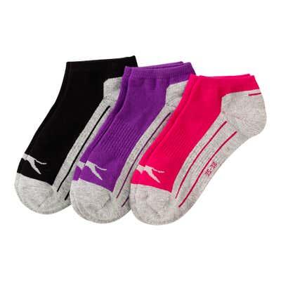Slazenger Damen-Sneaker-Socken mit Logo, 3er Pack