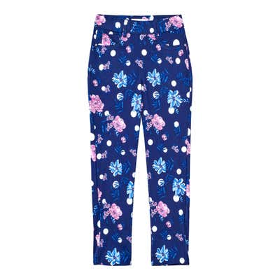 Damen-Jeggings mit hippen Blumenmotiven