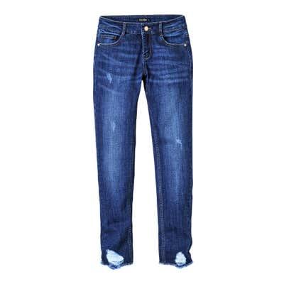 Damen-Jeans mit Destroy-Effekten