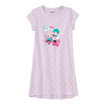 Mädchen-Nachthemd mit hübschem Frontaufdruck