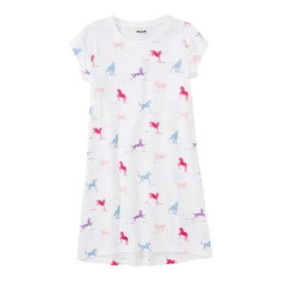 Mädchen-Nachthemd mit Pferde-Muster