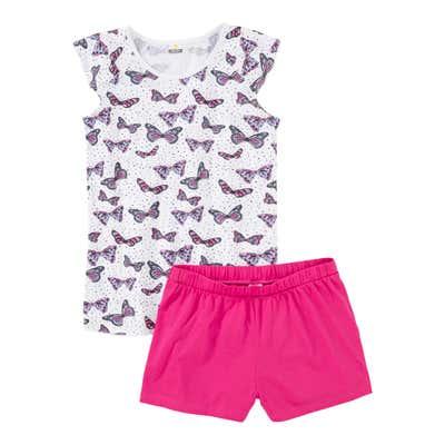 Mädchen-Shorty mit Schmetterlingsmuster, 2-teilig