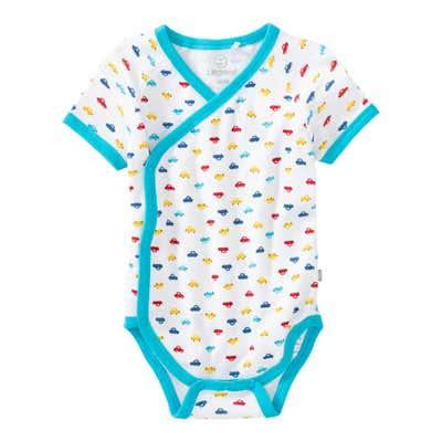 Baby-Jungen-Wickelbody mit Auto-Muster