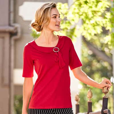 Damen-T-Shirt mit schöner Schnalle
