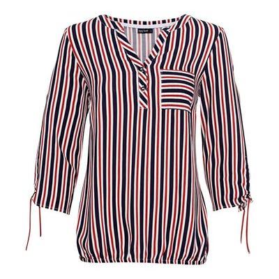 Damen-Bluse mit originellem Streifenmuster