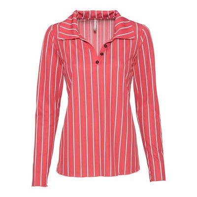 Damen-Shirt mit Längsstreifen