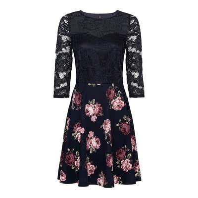Damen-Kleid mit Blumenmuster