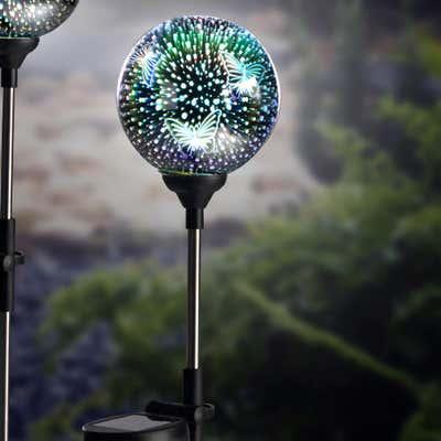 Solar-Glaskugelstecker mit faszinierendem 3D-Effekt, ca. 10x74cm
