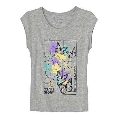 Damen-T-Shirt mit sommerlichem Motiv