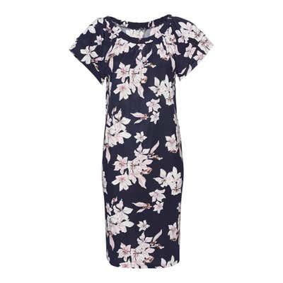 Damen-Kleid mit elastischem Ausschnitt