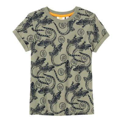 Jungen-T-Shirt mit Krokodils-Muster