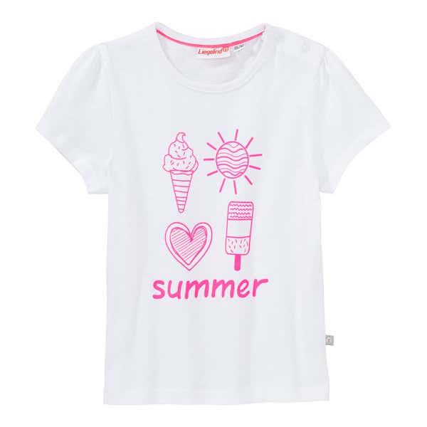 Baby-Mädchen-T-Shirt mit Sommer-Frontaufdruck