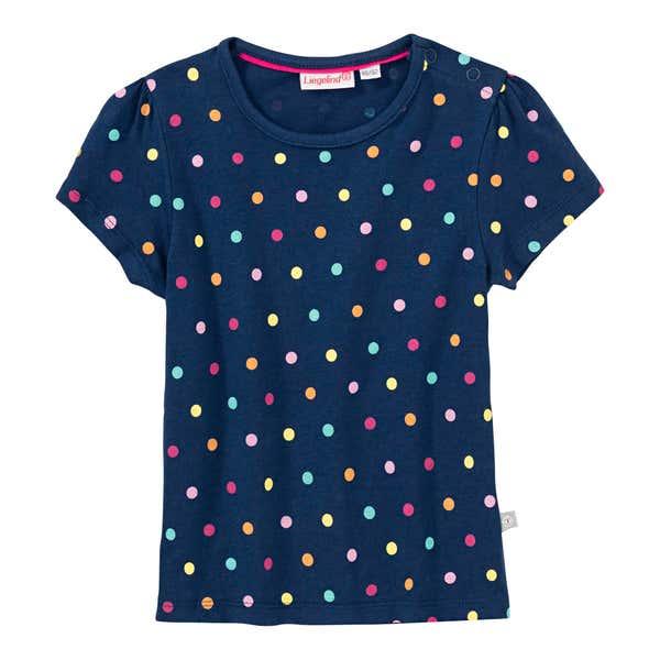 Baby-Mädchen-T-Shirt mit Punkte-Muster