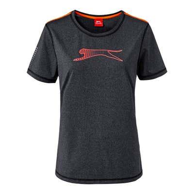 Damen-T-Shirt in moderner Melange-Optik