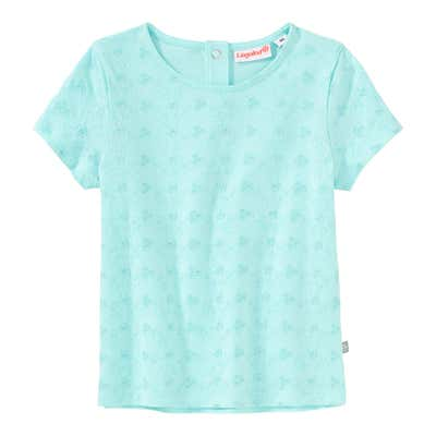 Baby-Mädchen-T-Shirt mit gesticktem Blumenmuster